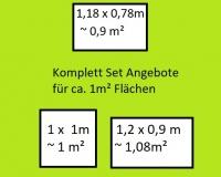 1 m² Set Zusammenstellung