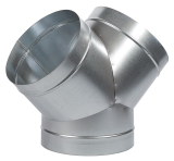 Y-Stück ø 1x 200 mm, 2x (125 oder 160)