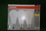 OSRAM E27 4000K 14W LED Birnenform 1500Lumen 3er Pack